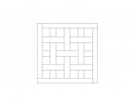 Модульный паркет, Орех Натур, арт. M1011-O650N