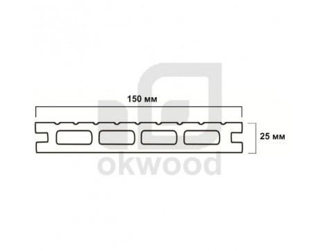 Композитная террасная доска Okwood (Венргия), арт. № TD150-25CKD-O
