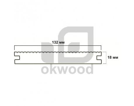 Композитная террасная доска Okwood (Венргия), арт. № TD132-18MHS-O