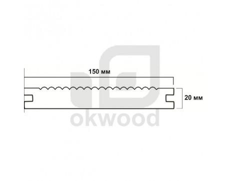 Композитная террасная доска Okwood (Венргия), арт. № TD150-20MKD-O