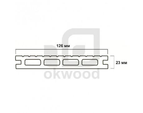 Композитная террасная доска Okwood (Венргия), арт. № TD126-23MS-O